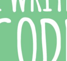I Write Code - Green - Girl Develop It (GDI) Sticker