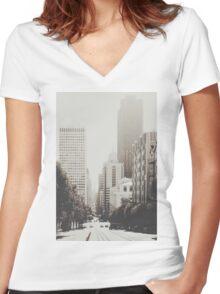 San Francisco I T-shirt femme moulant col V