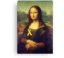 Mona Lisa With Yellow Ribbon Canvas Print