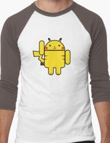 Electro Droid Men's Baseball ¾ T-Shirt