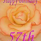 Happy 57th Birthday Flower by martinspixs