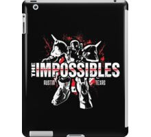 The Impossibles Logo w/ Robot - White and Red iPad Case/Skin