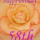 Happy 58th Birthday Flower by martinspixs