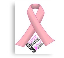 Breast Cancer Pink Ribbon Awareness Canvas Print