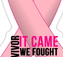 Breast Cancer Pink Ribbon Awareness Sticker