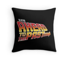 Go Retro - Ahead To The Past Throw Pillow