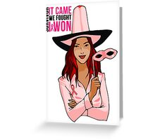 Breast Cancer Pink Ribbon Awareness Greeting Card
