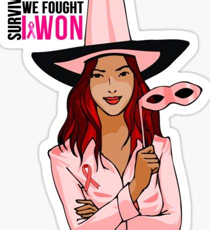 Breast Cancer Pink Ribbon Awareness Sticker