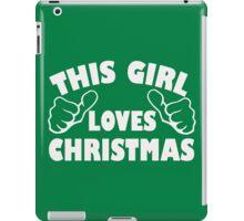 Girl Loves Christmas iPad Case/Skin
