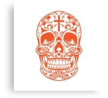 Sugar Skull Orange Canvas Print