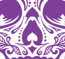 Sugar Skull Purple Sticker