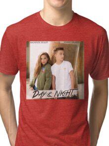 Day And Night - Johnny Orlando and Mackenzie Ziegler Tri-blend T-Shirt