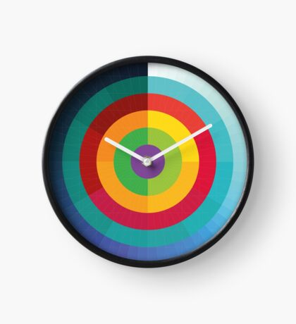 Time Moves Outwards Clock