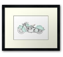 Indian Chief Motorcycle 1948  Framed Print