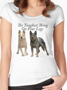 Australian Cattle Dogs 2 Women's Fitted Scoop T-Shirt