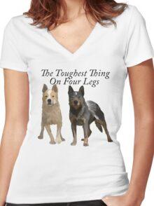 Australian Cattle Dogs 2 Women's Fitted V-Neck T-Shirt