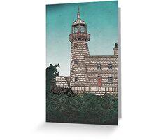 Harbour Lighthouse, Dublin, Ireland Greeting Card