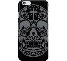 Sugar Skull Grey iPhone Case/Skin