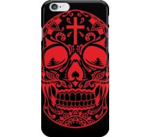 Sugar Skull Red iPhone Case/Skin
