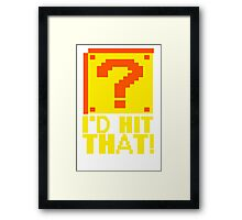 I Shoot People T-ShiI'd Hit That T-Shirt Question Mark Video Game TEE Geek Nerd Gamer Funny Humor Framed Print