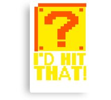 I Shoot People T-ShiI'd Hit That T-Shirt Question Mark Video Game TEE Geek Nerd Gamer Funny Humor Canvas Print