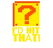 I Shoot People T-ShiI'd Hit That T-Shirt Question Mark Video Game TEE Geek Nerd Gamer Funny Humor Photographic Print