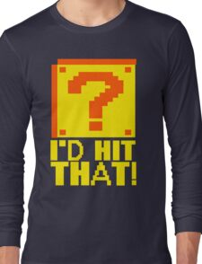 I Shoot People T-ShiI'd Hit That T-Shirt Question Mark Video Game TEE Geek Nerd Gamer Funny Humor Long Sleeve T-Shirt