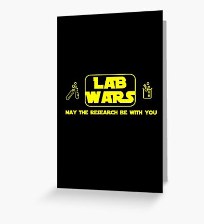 Lab Wars Greeting Card