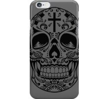Sugar Skull Black iPhone Case/Skin