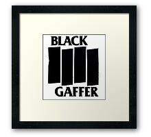 Black Gaffer Framed Print
