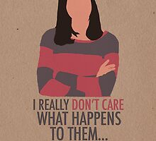 April Ludgate Doesn't Care by afieldofstone