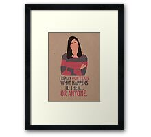 April Ludgate Doesn't Care Framed Print