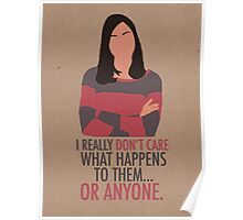 April Ludgate Doesn't Care Poster