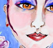 Violeta - Woman Art by Valentina Miletic Sticker