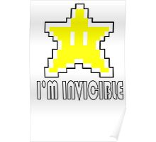 I'm Invincible T-Shirt Super Funny Mario TEE Monty Python Bro Gaming Brothers Poster