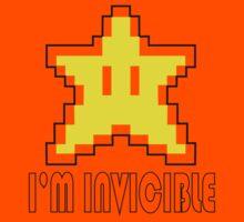 I'm Invincible T-Shirt Super Funny Mario TEE Monty Python Bro Gaming Brothers by beardburger
