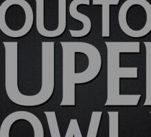 Super Bowl LI 2017 horns blk Sticker