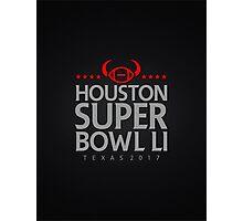 Super Bowl LI 2017 horns blk Photographic Print