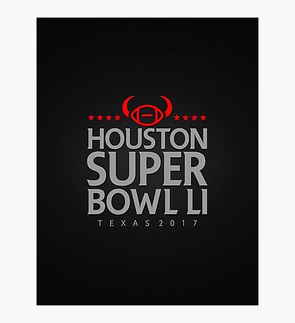 Super Bowl LI 2017 horns blk Photographic Print