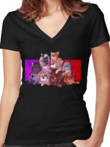 Fire Emblem Cats Women's Fitted V-Neck T-Shirt