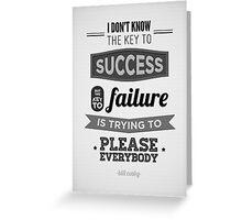Key to Success Greeting Card