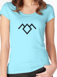 Owl Cave Symbol Women's Fitted Scoop T-Shirt