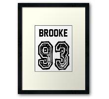 Brooke'93 Framed Print