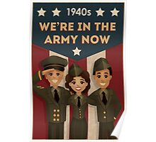 1940s Style  Army Poster Poster