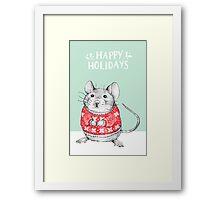 A Festive Mouse Framed Print