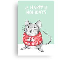 A Festive Mouse Canvas Print