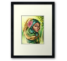Golden Afternoon - Portrait in June Framed Print