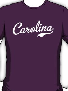 Carolina Script White T-Shirt