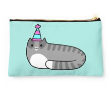 Blue Birthday Tabby Studio Pouch