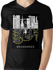 Boundaries Original Design: Breaking the Boundaries Mens V-Neck T-Shirt